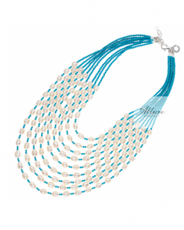 girocollo turchese perle