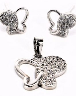 set farfalle argento