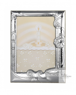 Cornice battesimo argento bil. mis 9X13