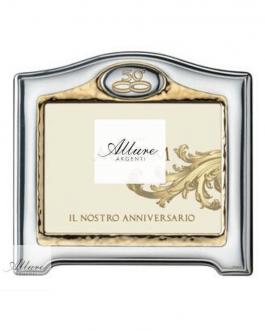 Cornice in argento bil mis 18×24 da 50° anniversario