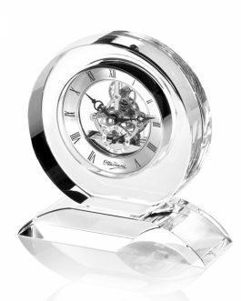 Orologio cristallo con base onda