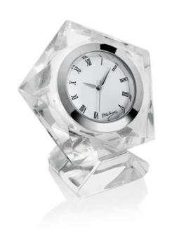 Orologio in cristallo pentagono