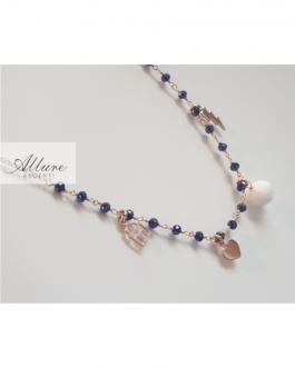 Collanina fashion bianco (e blu)