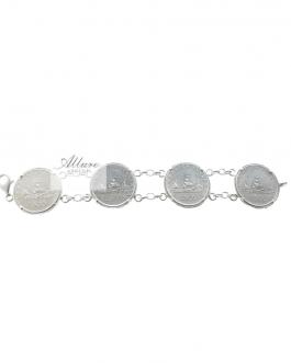 Bracciale 4 monete 500 lire