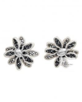 Orecchini con cristalli perline-chiusura clip