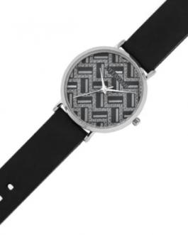Quarzo argento silicone nero