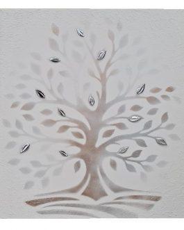 Quadro bianco albero della vita quadrato