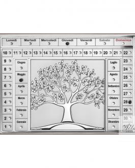 Calendario perpetuo albero della vita argento