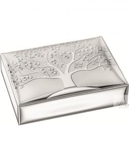 Cofanetto albero della vita live argento