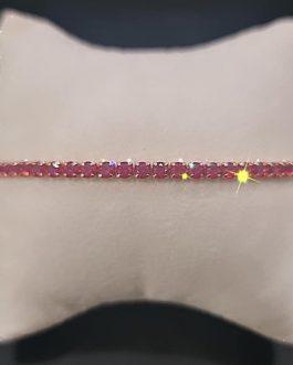 bracciale tennis in argento rosato rosso