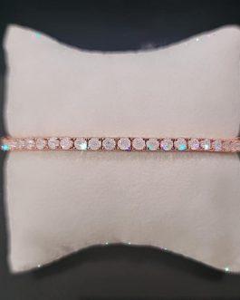 bracciale tennis in argento rosato ice