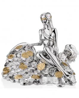 Dea Bendata e cornucopia col oro